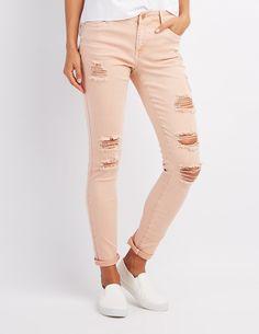 b095a58260563 Refuge Skinny Boyfriend Destroyed Jeans