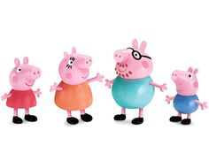 Peppa Pig and her family, action figure set - $10