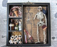 Death Museum Shadow Box by AhtheMacabre on Etsy, $40.00
