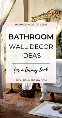 Are you looking for easy bathroom wall decor ideas that will transform a boring space into a beautiful one? In this guide, I'll show you some simple bathroom wall art ideas that luxury bathrooms uses for high style. So whether you are looking for chic ba
