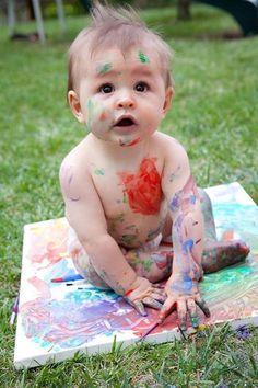 Cansei de ser bebê virei obra de arte. #DiadeArte