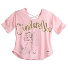 Pictured as a toddler for the Disney Animators' Collection doll series, our young Cinderella will make eyes sparkle for stylish women of all ages on this glittering trend tee.