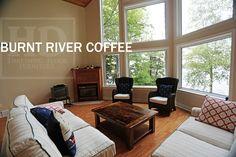 Reclaimed Wood Coffee Table with epoxy/matte polyurethane finish www.hdthreshing.com