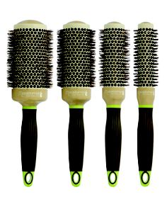 Macadamia Boar Bristle Brushes available in 25mm, 33mm, 43mm and 53mm sizes