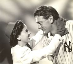 Theresa Wright and Gary Cooper - 'Pride of the Yankees'