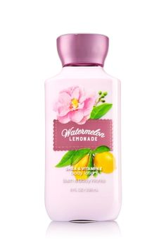 Watermelon Lemonade - Body Lotion - Signature Collection - Bath & Body Works - America's #1 Body Lotion! Infused with Shea Butter and our exclusive Daily Moisture Complex, our enhanced lotion contains more of what skin loves, leaving it feeling incredibly soft, smooth and nourished. Fortified with nutrient-rich ingredients like protective Vitamin E and conditioning Vitamin B5, our fast-absorbing, non-greasy formula delivers 16 hours of continuous moisture.