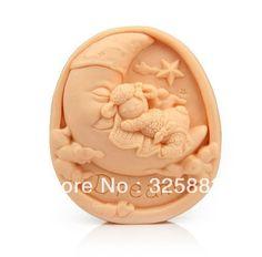 Wholsale! 1pcs Moonshine Lullaby (S155) Silicone Handmade Soap Mold Mold Artesanato DIY $14,28