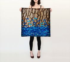 Butterfly Tree Square Scarf found @ https://www.lonewolfboutique.com