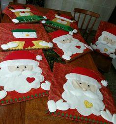 Capas de cadeira natalinas