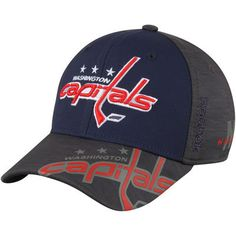 955467fe053 Men s Washington Capitals Reebok Navy Gray 2017 NHL Stanley Cup Playoffs  Participant Flex Hat