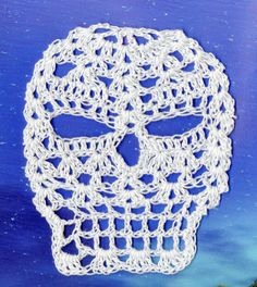 JASON Day Of the Dead Crochet Skull Applique by spidermambo, $5.00