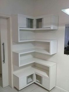 Stunning 47 Newest Corner Shelves Design Ideas For Home Decor Looks Beautiful Corner Shelf Design, Corner Shelves, Wall Shelves, Closet Shelves, Corner Drawers, Design Diy, Design Ideas, Rack Design, Storage Design