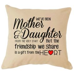 Mother And Daughter Perfect Mothers Day Cushion Gift For Mum Inspirational Love Quote On Cushion Life Quote Sayings Words Home D
