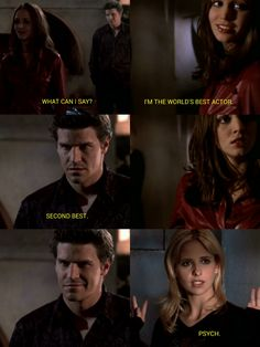 One of the most amazing moments in TV History - Buffy and Angel fool Faith - Buffy the Vampire Slayer - When I realized Angel was faking I went freaking nuts. Never before have I been fooled so well - Joss Whedon is a genius.
