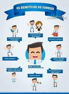 Os benefícios do Sorriso. Por: https://www.facebook.com/Dentista.Artista