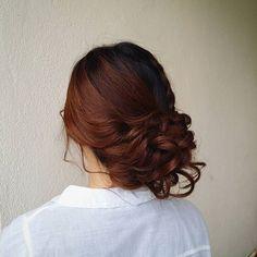 Side updo.  Hair: @tamarajayne8  ___________________ #tammyshairdos #muakl…