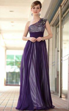 Vestidos para boda color morado
