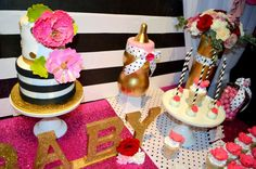 Gorgeous Kate Spade baby shower  party! See more party ideas at CatchMyParty.com!