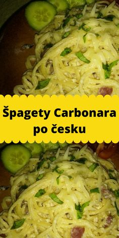 Špagety Carbonara po česku Chicken, Meat, Food, Noodles, Essen, Meals, Yemek, Eten, Cubs