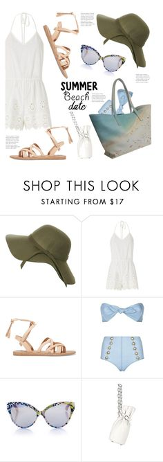 """Summer Date @ The Beach..."" by hattie4palmerstone ❤ liked on Polyvore featuring Pilot, Miguelina, Valia Gabriel, Lisa Marie Fernandez, Cutler and Gross, Alexander Wang, beach and summerdate"
