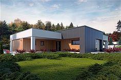 Projekt domu Endo 113,29 m2 - koszt budowy - EXTRADOM Rio 2, Teak, House Plans, Garage Doors, Shed, Outdoor Structures, House Design, Interior Design, Outdoor Decor