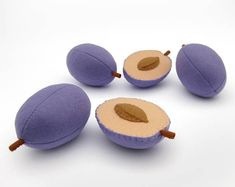 This listing includes 1 toy Plum whole or half I suggest you to buy realistic stuffed toys, made of felt for your little ones. For playing the Garden Harvest Kitchen Shop etc. ————————————————————— ♥ unique design, are just like real ♥ small (3 in) and light (0,3 oz) ♥ safe for your