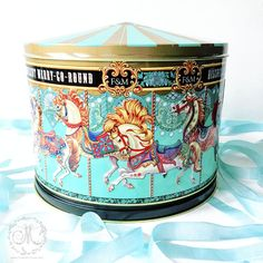 Fortnum and Mason carousel biscuit tin