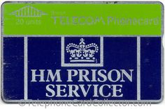 BT Prison Phonecards issued between 1987 and 2004 Phone Card, Number