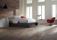 Product Details Exclusive to Floor & Decor, x 4 Timberclick® Agate Oak Distressed Solid Hardwood is a revolutionary solid hardwood floor that offers the look of solid hardwood in your home with the easy installation of a locking flooring system. Home Trends, Floor Decor, White Walls, Wood Wall, Hardwood Floors, Wood Flooring, Bedroom Decor, Master Bedroom, New Homes