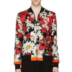 Silk Floral Bomber Jacket Dolce & Gabbana Jackets