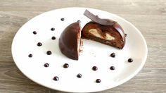 Dark chocolate cake and white chocolate core by Roadtopastry.com