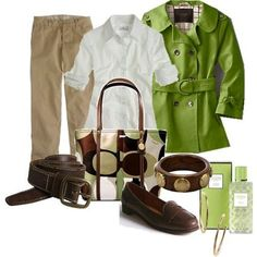 ohh... my coach outfit! i love the green!