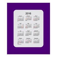 2016 Indigo Holiday Calendar by Janz Print
