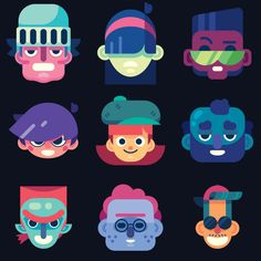 The Art of Mark Usmiani — some faces practice. More shapes! More weird. Character Flat Design, Simple Character, Character Concept, Character Art, Flat Design Illustration, Character Illustration, Manga Illustration, Digital Illustration, Design Thinking