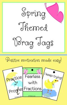 Positive motivation works! These spring themed brag tags are a quick, easy way to reward good behavior and academic milestones without…