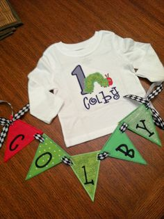 Very Hungry Caterpillar Birthday Shirt with by EmmabellasDesigns, $54.99