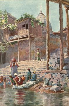 Kashmir, Sir Francis Edward Younghusband, Illustrated by E. Great Paintings, Beautiful Paintings, Kashmir India, Unique Facts, Sir Francis, Life Paint, Tourist Sites, Vintage India, Time Painting