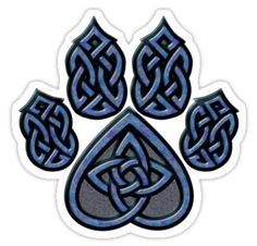 "Celtic Knots | Celtic Knot Pawprint - Blue"" T-Shirts & Hoodies by CGafford ..."