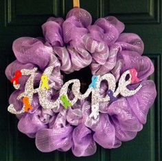 relay for life wreath | Awareness Wreath i made as a donation for a family member's Relay for ...