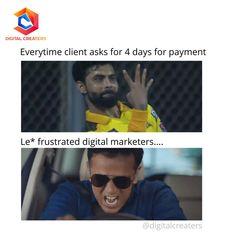 Have you ever waited so long for payment? Share your experience in comment below!! #RavindraJadeja #Jadeja #DigitalMarketing #digitalmarketer #clients #digitalmarketingstrategy #DigitalTransformation #digitalindia #MEMES #RahulDravid #IndiraNagarkaGunda #meme #iplfantasyleague #IPL2021 #iplmemes #Digital #marketing #memesdaily #TrendingNow #followthetrend #Trending Ravindra Jadeja, Fantasy League, Digital India, Digital Marketing Strategy, Trending Now, Memes, Meme
