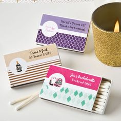 PERSONALIZED MATCHBOX FAVORS (PACK OF 50) – MISC