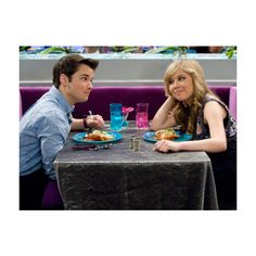 iCarly: iDate Sam and Freddie Pics ❤ liked on Polyvore featuring backgrounds and icarly
