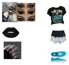 """Warped Tour"" by jadziah-blackman ❤ liked on Polyvore featuring Evil Twin and Lime Crime"