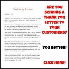 Customer Thank You Letters  Customer Thank You Letters