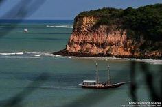 Cliffs at Pipa Beach, Natal, Brazil.