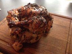 Grillad kyckling med färska örter