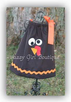 Girls Thanksgiving Pillowcase Dress with by jazzygirlboutique, $26.00
