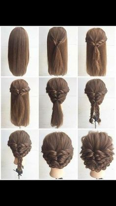 Braids For Medium Hair Picture fashionable braid hairstyle for shoulder length hair Braids For Medium Hair. Here is Braids For Medium Hair Picture for you. Braids For Medium Hair fashionable braid hairstyle for shoulder length hair. Medium Hair Styles, Curly Hair Styles, Medium Hairs, Medium Hair Updo, Prom Hair Medium, Haircut Medium, Up Dos For Medium Hair, Haircut Short, Medium Curly