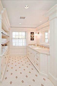 Inspiring Bathroom Design. The design in this bathroom is very inspiring. #Bathrooms