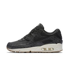 Nike Air Max 90 Premium Women's Shoe Size 11.5 (Black) - Clearance Sale